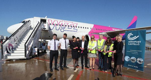 Nuevas rutas estivales de Wizz Air desde el aeropuerto de Castellón.