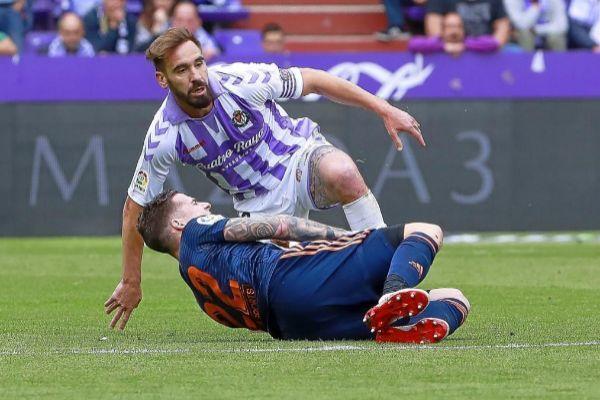 Borja Fernández, durante el Valladolid-Valencia.
