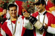 Alfonso y Guardiola, en la entrega de medallas de Barcelona'92.