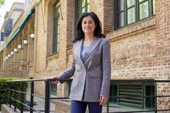 Teresa Pérez Prado, subdirectora de IMDEA Materiales, en la Residencia de Estudiantes.
