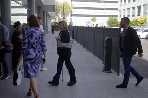 María Dolores de Cospedal, a su llegada a los juzgados de lo Penal de Madrid.