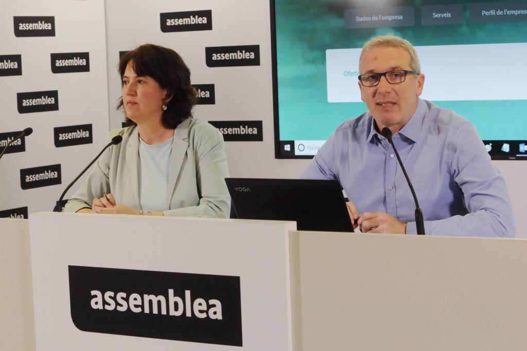 Antonio Moreno 20.06.2019.Barcelona Cataluña.Presntacion de la campaña de boicot al cosumo , E. <HIT>Paluzie</HIT> y D.Fernandez de la ANC.