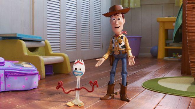 Woody, junto a Forky, el nuevo personaje que se incorpora a la saga.