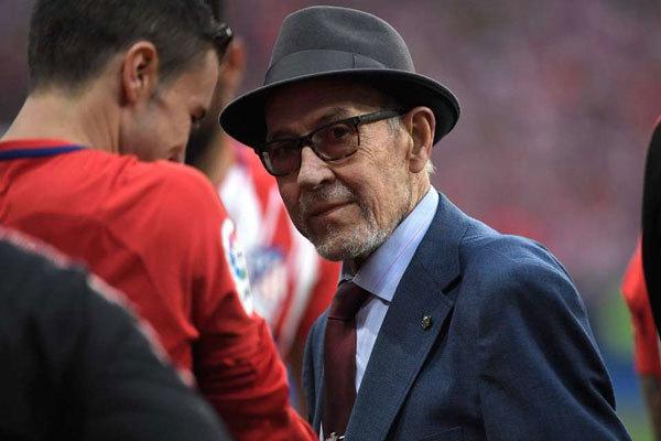 Manuel Briñas, en el Metropolitano, en mayo de 2018.
