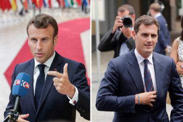"""Macron desmiente a Rivera: No ha habido """"felicitación"""" por los pactos con PP y Vox"""