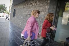 La directora de À Punt, Empar Marco, antes de declarar en el juzgado de Paterna.