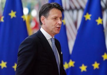 El primer ministro italiano, Giuseppe Conte, en la cumbre del Consejo Europeo.