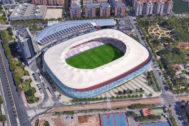 Recreación del futuro estadio del Levante UD.