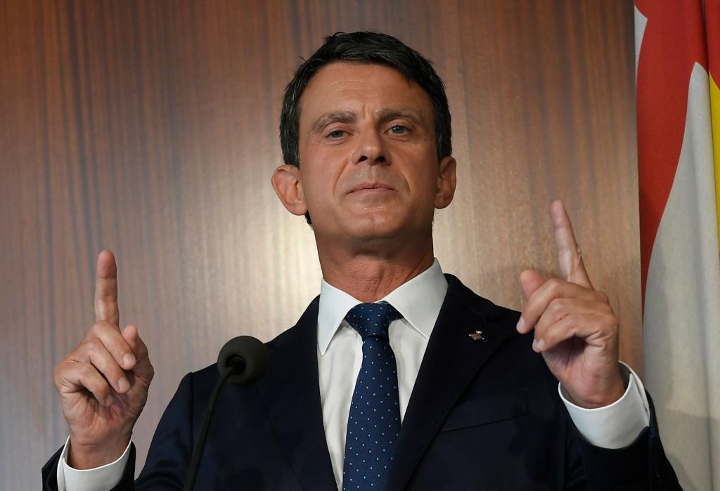 Manuel Valls, en una rueda de prensa en Barcelona.