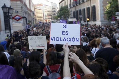 Concentración el 26 de abril de 2018 contra la sentencia de La Manada...