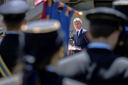 Fernando Grande-Marlaska, en un acto de la Policía Nacional