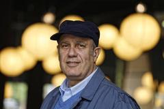El escritor italiano fotografiado en Barcelona