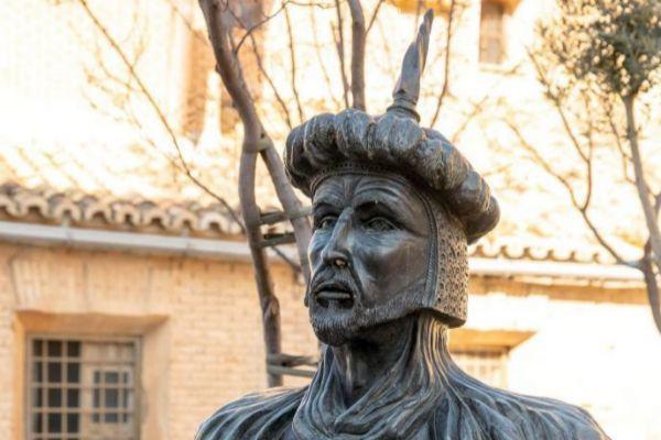 Busto de Abderraman III en Cadrete.