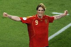 Fernando Torres, en la final de la Eurocopa de 2008.