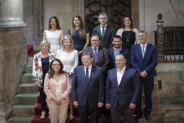 El presidente de la Generalitat, Ximo Puig, en la toma de posesión del nuevo Consell.