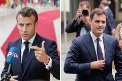 Emmanuel Macron y Albert Rivera, en Bruselas este jueves