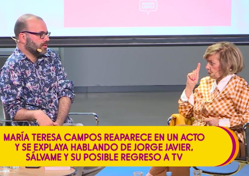 La presentadora María Teresa Campos carga contra Jorge Javier...