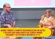 La presentadora María Teresa Campos carga contra Jorge Javier Vázquez y Sálvame durante el acto de presentación del libro del crítico y experto televisivo Borja Terán.