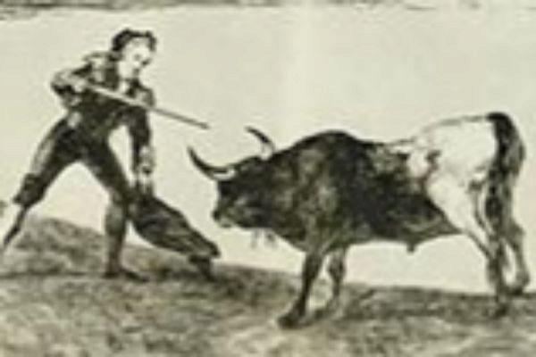 'Pedro Romero matando á toro parado'. Serie 'La Tauromaquia'.