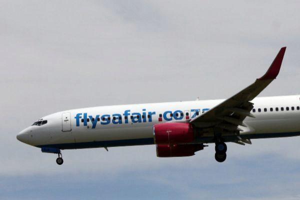Un avión de la compañía FlySafair, en una imagen de archivo.