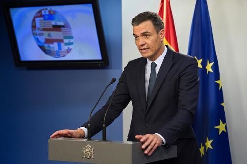 Pedro Sánchez, en rueda de prensa tras el Consejo Europeo