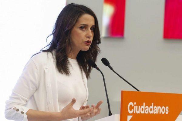La portavoz parlamentaria de Cs, Inés Arrimadas.