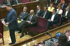 Los acusados por el 1-O, en la última sesión del juicio en el Tribunal Supremo.