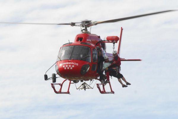 Helicóptero de rescate del Cuerpo de Bomberos de la Comunidad de Madrid.