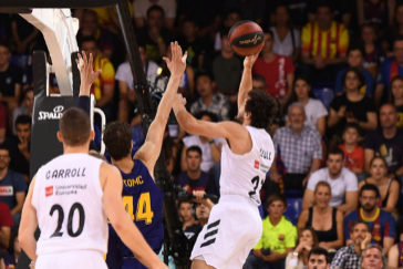 El Real Madrid, campeón de la ACB en el Palau Blaugrana