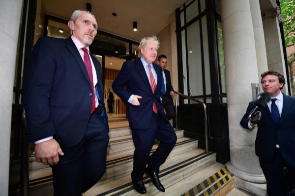 Boris Johnson, este viernes en Westminster.