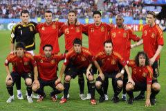 Once inicial de España frente a Italia en la Eurocopa de 2008.
