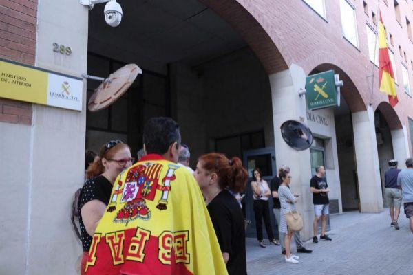 Acto de apoyo a la Guardia Civil en Barcelona