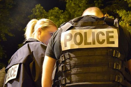 Agentes de la Policía Nacional francesa.
