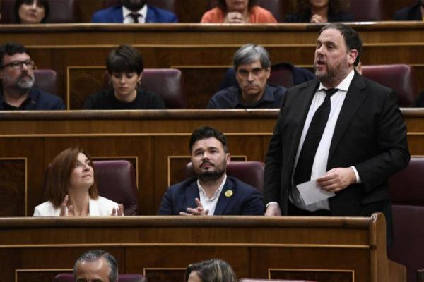 Oriol Junqueras, durante su toma de posesión como diputado en la XIII Legislatura.