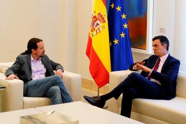 Pedro Sánchez y Pablo Iglesias, en una reunión en La Moncloa.