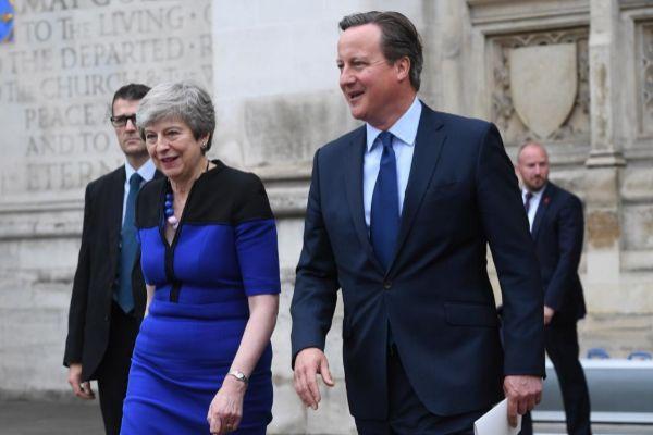 Theresa May y David Cameron en una imagen reciente.
