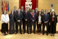 Los componentes del Gobierno de Alcobendas, de Cs y PSOE.
