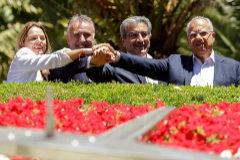 De izda. a dcha., Noemí Santana, Ángel Víctor Torres, Román Rodríguez y Casimiro Curbelo.