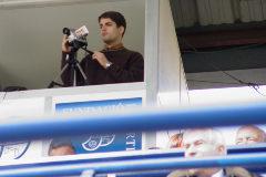 Robert Moreno, en 2004, en el campo del Europa.