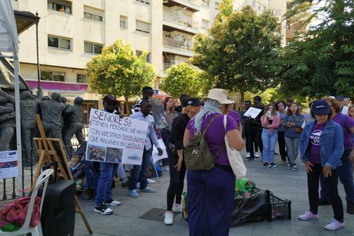 Un momento de la 'contracumbre' organizada por colectivos sociales esta semana en Huelva.