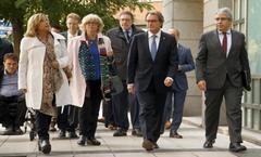 Artur Mas, en una comparecencia judicial en Madrid