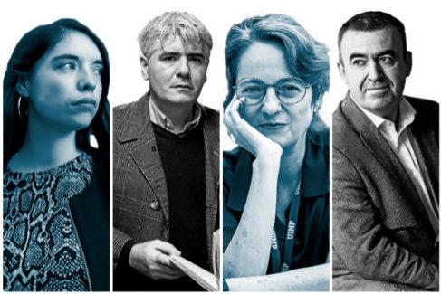 De izquierda a derecha: Luna Miguel, Juan Bonilla, Marta Sanz y Lorenzo Silva.