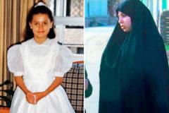 Luna Fernández el día de su primera comunión y antes de irse a Egipto.