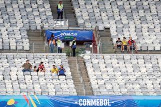 CAF142. BELO HORIZONTE (BRASIL).- Vista de gradas vacías este sábado, previo al partido <HIT>Bolivia-Venezuela</HIT> del Grupo A de la Copa América de Fútbol 2019, en el Estadio Mineirão de Bello Horizonte, Brasil, hoy 22 de junio de 2019.