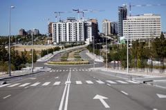Varios bloques de viviendas en construcción en Madrid.