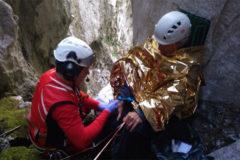 Rescate de un holandés de 64 años que sufrió caída en una grieta en los Picos de Europa en Cabrales.
