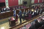 Los acusados por el 'procés', en una sesión del juicio en el Supremo.