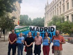 Miembros de la plataforma en defensa de Madrid Central.