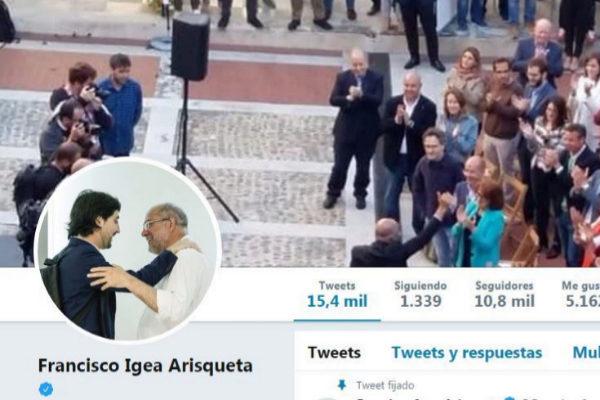 La cuenta de Twitter de Francisco Igea.