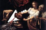 Collage sobre el cuadro 'Judit y Holofernes' de Caravaggio.